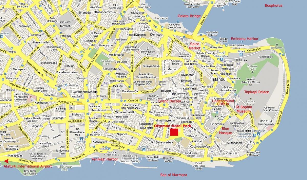 Istanbul City Center Kort Kort Af Istanbul City Center Tyrklandi